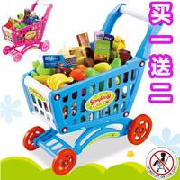 Child supermarket shopping cart child small wheelbarrow toy 52 food