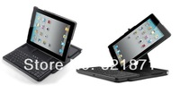 Freee Shipping wireless bluetooth keyboard with protective case  for ipad4 ,keyboard mount rotating protective case