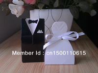Popular model wedding box bride and groom candy boxes party favor gift box 100pcs/lot free shipping