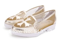 Free shipping 2013 new spring and summer autumn gauze heavy-bottomed high-top flat-bottomed increased Ms. sandals