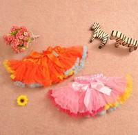 free shipping Child 2013 female child puff skirt princess  bust skirt tulle short skirt layered  tutu skirt