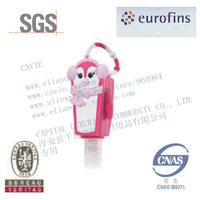 30ml Hand Sanitizer With Penguin Shape Silicon Holder