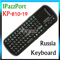 [ IN STOCK ] IPazzPort KP-810-19 fly air Russia Keyboard 2.4G Mini Wireless Russian with Touchpad For Tablet Mini PC TV Box(China (Mainland))