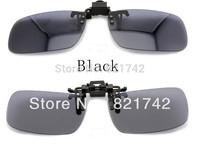 2 colors / lot Black&Dark Brown Polarized Len Medium Size Easy Clip On Sunglasses Glasses Driving Day  Vision Sunglasses