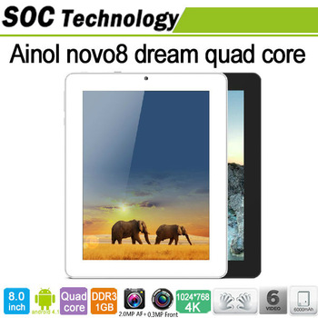 New product 8 inch Ainol Novo8 Dream Android 4.1 Quad Core Tablet Actions ATM7029 1.5GHz 16GB Dual Camera HDMI