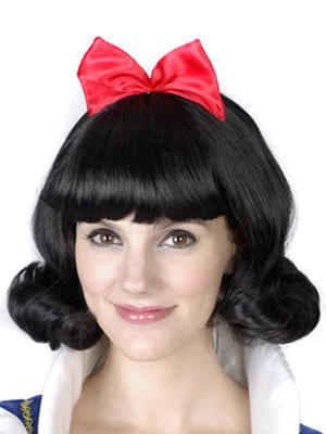 Wholesale 15 pcs Halloween & Costume Wig - Snow White hair wigs, Real Cosplay wigs supplier. EMS Free Shpping.(China (Mainland))