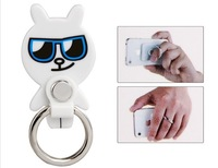 Cartoon Bear Ring Support Bracket with Suction Cup for iPhone 5, iPhone 4 & 4S, iPad, iPod