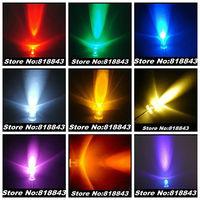 9Values x100pcs/Color=900pcs 5mm Round Ultra Bright Red/ Green/Blue/Yellow/White/Warm White/Orange/Pink/Purple LED kit