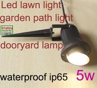 5W 12v patio garden backyard lawn light, 24v led lawn light,100-240v led outdoor spotlight,waterproof ip65 black finish