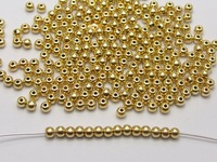 2000 Gold Tone Plastic Round Spacer Beads 3mm Smooth Ball Beads
