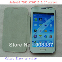 "hot sale N7100 A7100 note 2 II 5.0 "" inch android 4.0 MTK6515 Smart Phones Dual Sim card WIFI mobile cell phone+gift(leather)"
