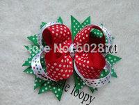 """Free shipping 20pcs/lot  4"""" Large Hair Bows by China post  Stacked bows"""