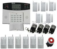 Home GSM SMS Burglar Security Alarm System Detector Sensor Kit Remote Control Free Shipping
