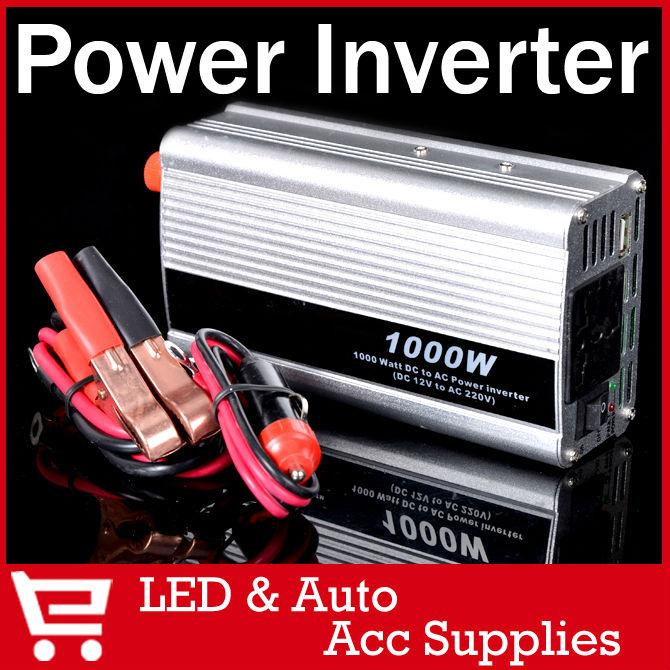 1000W 12V/220V Portable Automotive Power Inverter Charger Converter for Car Auto DC 12 to AC 220 Modifie