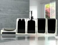 2015 Toothpaste Banheiro Home Decoration Fashion Bathroom Accessories Toothbrush Holder Set Bath Toiletries Bottles Five Pices