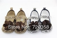 The new 2013 zebra grain female baby toddler shoes4.28-8