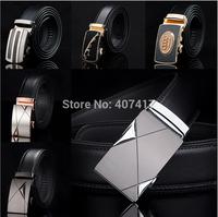 Free Shipping New Style Famous Design Genuine Leather Belt Men Belt Strap Male Automatic Buckle Waist Belt