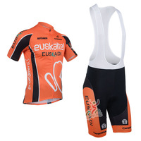 2013 euskaltel Team Cycling clothing /Cycling wear/ Cycling  jersey short sleeve+ Bib Shorts Suite euskaltel-1A Free Shipping