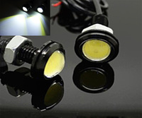 2pcs/lot 9W High Power LED DRL Ultra-thin car led Eagle Eye Tail light Backup Rear Lamp White Color