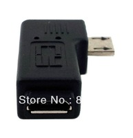 [FREE SHIPPING/EPACKET!] 2pcs/lot Micro USB 2 0 5pin Male to Female M F Extension Adapter 90 Degree Right Angled
