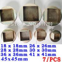 Free shipping!(7/pcs/set)BGA nozzle 850/852 SMD hot air station Dedicated , 28x28mm 30 x 30mm 36 x 36mm 41 x 41mm 45 x 45mm
