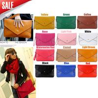 New Fashion Lady Women Envelope Clutch Purse Handbag Shoulder Tote Messenger Bag PU Leather ,  Dropshipping