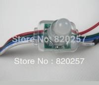 Free shipping 50pcs string 12mm WS2801 digital led pixel module IP66 DC5V input 0.3W full 24 bit color flat type