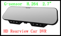 G900 H.264 bluetooth rearview mirror car recorder hd night vision wide-angle 140 degree 1080p Car DVR Free Shipping