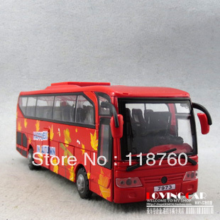 Plain big bus the door WARRIOR alloy toy car model