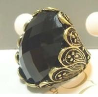 Fashion Vintage Decorative Pattern Gem Ring For Men Women Free Shipping 055