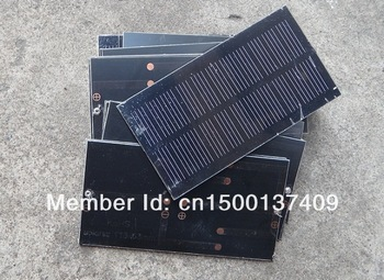 HOT Sale ! Monocrystallicon 0.8W 5.5V Mini Solar Cell Solar Module Small Solar Panel for Battery Charger 5pcs/lot  Free Shipping