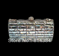 Free Shipping Solid Rhinestone Handbag Party bag crystal evening purse square crystal S0848