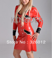 Hot sale! latex sexy uniform with long sleeves