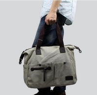 2014 one shoulder handbag cross-body multi-purpose bag thick canvas bag men and women general bag F15