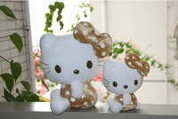 Hello kitty wedding toy,PP cotton, short plush.one big hight 22cm and one small hight 15cm