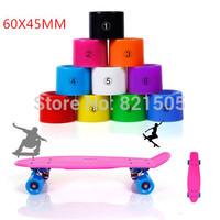 Free Shipping Blank Pro Skateboard 60mm Penny  Wheels fits for longboard and penny skate board