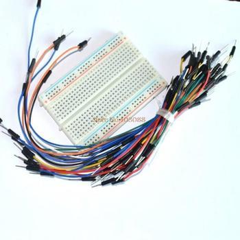 FREE SHIPPING Mini Solderless Breadboard 83x55mm + Jump Wires 65pcs Project Bread Board Jumpwires
