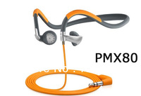 Free shipping hot sell  new box PMX80 Sportsii Neckband headphones with plastic box package dropshipping