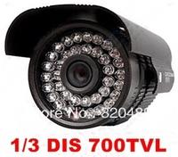 "Free Shipping 1/3"" DIS 700TVL IR Waterproof Bullet Camera with IR-CUT,DWDR, Day/Night(ICR), AWB, AGC, BLC, 30m IR distance"