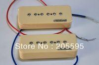 NEW SET Wil-kinson Bridge and Neck P90 Soapbar Pickup / Soap Bar / Ivory - Cream
