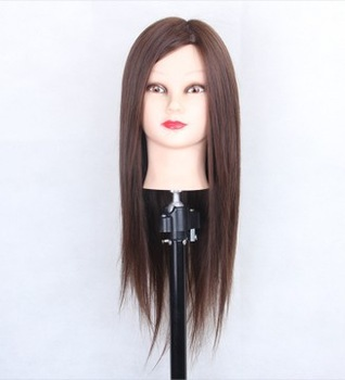 Free shipping Liberal wig mannequin head doll head headform hair real hair maker model
