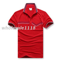 2013 Spring Fashion Brand T-Shirt For Men Classical Men's Polo Shirt Short Sleeve Size M L XL XXL 7Color Choose Free Shipping
