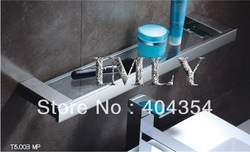 Bathroom Shelf 304 Stainless Steel Bathrom Glass Shelf Mirror Polishing -T5.003(China (Mainland))