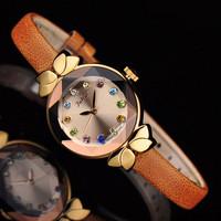 Ladies Wrist Watch Quartz Hours Best Fashion Dress Korea Bracelet Brand Leather Clock Multicolored Julius JA627