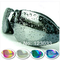 Electroplating waterproof anti-fog big box uv matt water-proof hd swimming goggles glasses authentic men and women