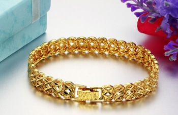 OPK JEWELLERY ONLY $ 6.59/PIECE,18K Gold plated Bracelet wedding bride Hot Fashion Jewelry FREE SHIPPING HIGH QUALITY 371