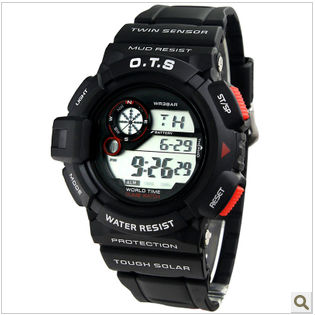 Free shipping O.T.S6925 High quality PU men watch sports in the open air Fashionable waterproof student table(China (Mainland))