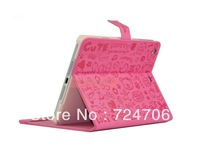 For ipad mini leather Case with Little Witch For mini,1pcs/lot free shipping+screen protector