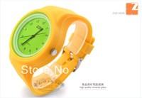 Sport Women Dress Watch ZGO Brand Cute Fashion Quartz Jelly Watch Candy Colored Diamond Silicone Watches Free Shipping