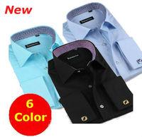 Men's Business dress slim fit  shirts  brand fashion  long sleeve french cuff  shirt FS19-24 XS S M L XL XXL XXXL